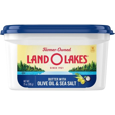 Land O Lakes Spreadable Butter with Olive Oil & Sea Salt - 21oz