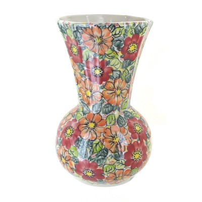 Blue Rose Polish Pottery Marigold Surprise Vase