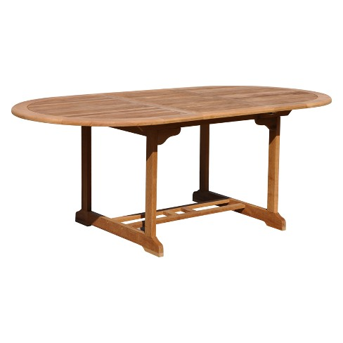 Burma Teak Rectangle Outdoor Extension Table - Natural Finish - Courtyard Casual - image 1 of 4