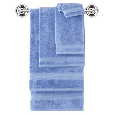 6pc Amadeus Turkish Bath Towel Set Breezy Point Blue - Makroteks