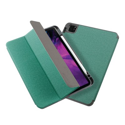 """Insten - Soft TPU Tablet Case For iPad Pro 11"""" 2020, Multifold Stand, Magnetic Cover Auto Sleep/Wake, Pencil Charging, Mint Green"""