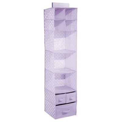 mDesign Kids Fabric Over Closet Rod Hanging Storage, 7 Shelf, 2 Pack