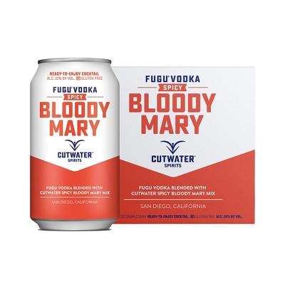 Cutwater Fugu Spicy Bloody Mary Cocktail - 4pk/12 fl oz Cans
