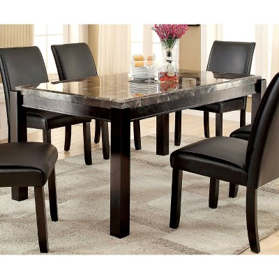 IoHomes Marble Table Top Dining Table Wood/Dark Walnut : Target