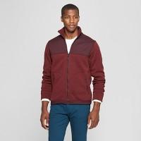 Goodfellow & Co Mens Standard Fit Long Sleeve Sweater Fleece Zip-Up