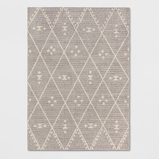 Gray Diamond Woven Area Rug 5'X7' - Project 62™