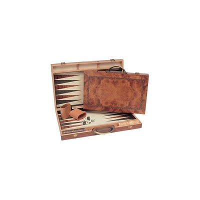 WE Games Camphor Wood Backgammon Set- 15 inch