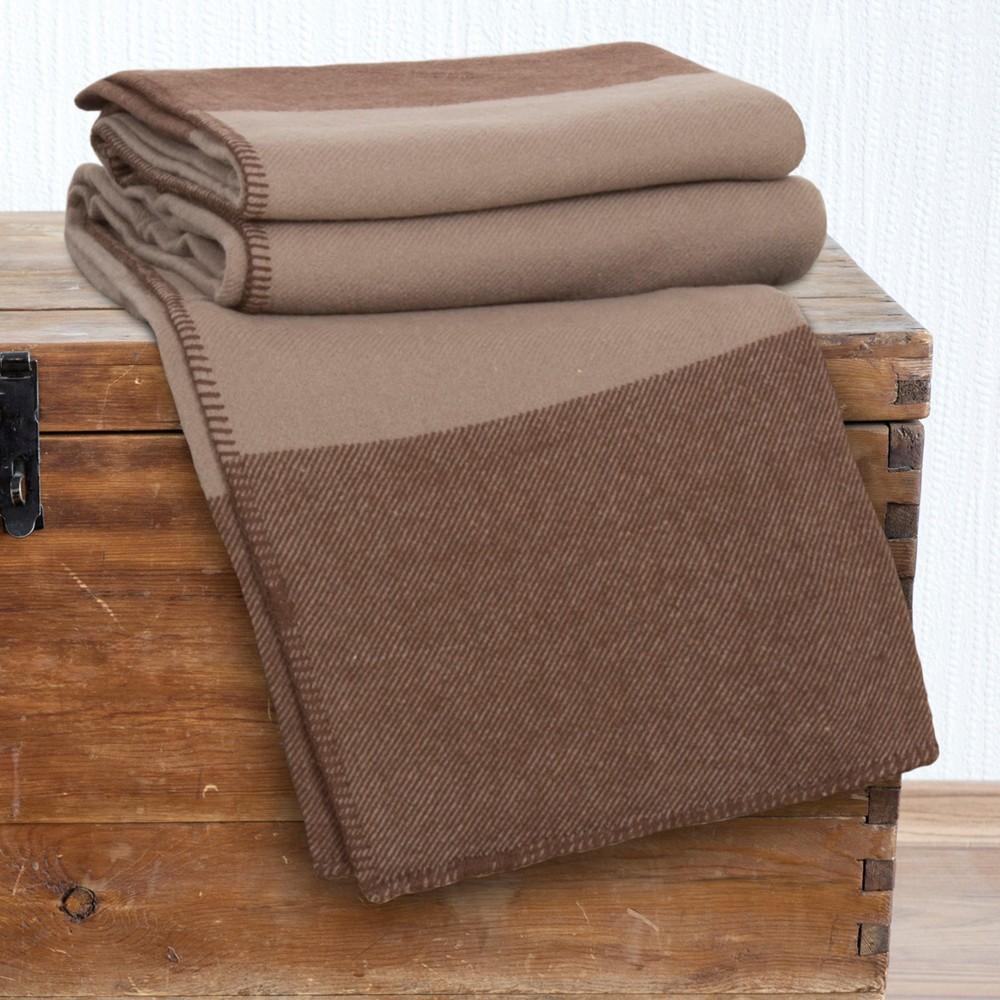 Image of 100% Australian Wool Blanket (King) Brown - Yorkshire Home