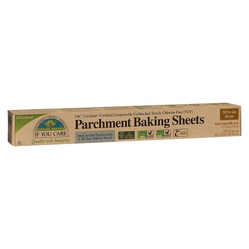 If You Care® Unbleached Parchment Baking Sheets - 24 sq ft - image 1 of 1