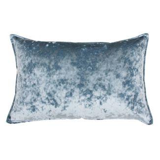 Ibenz Ice Velvet Lumbar Throw Pillow Blue - Décor Therapy