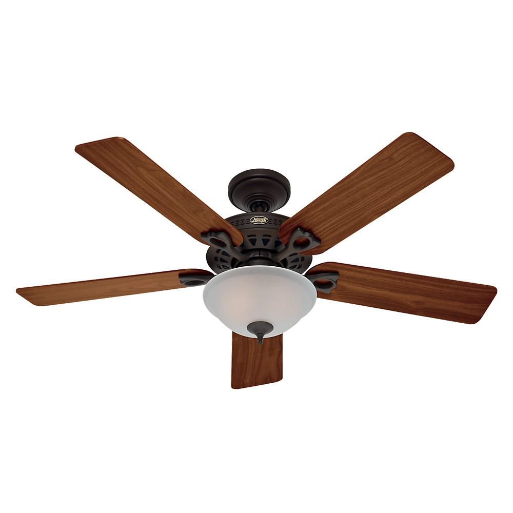 "Image of ""52"""" LED Astoria Lighted Ceiling Fan Bronze - Hunter Fan"""