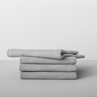 4pk Solid Barmop Towel Light Gray - Made By Design™