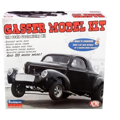 Model Kit 1940 Willys Gasser 2-In-1 Kit 1/18 Scale Diecast Model Kit by ACME