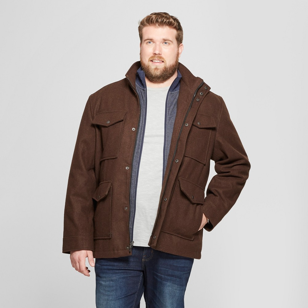 Men's Big & Tall Reversible Military Jacket - Goodfellow & Co Brown 4XBT