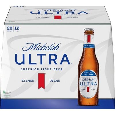 Michelob Ultra Superior Light Beer - 20pk/12 fl oz Bottles