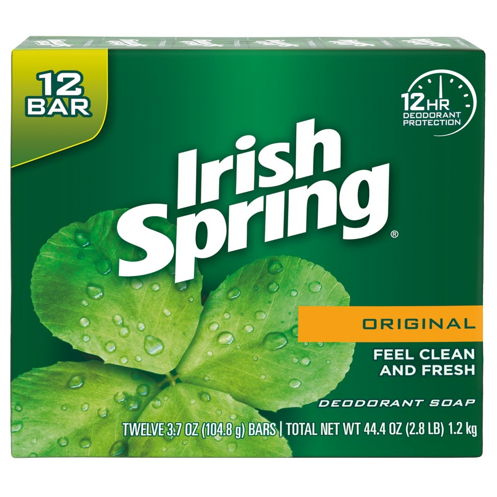 Image of Irish Spring Deodorant Bar Soap - Original - 3.7oz/12pk