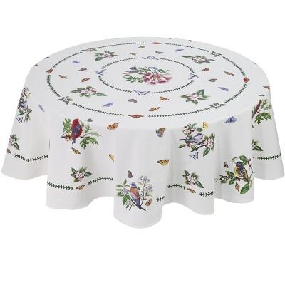 "Avanti Botanic Birds 70"" Round Tablecloth - Multicolored"
