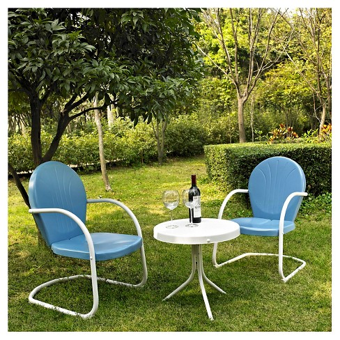 Griffith 3pc Metal Outdoor Seating Chat Set - Crosley - image 1 of 1