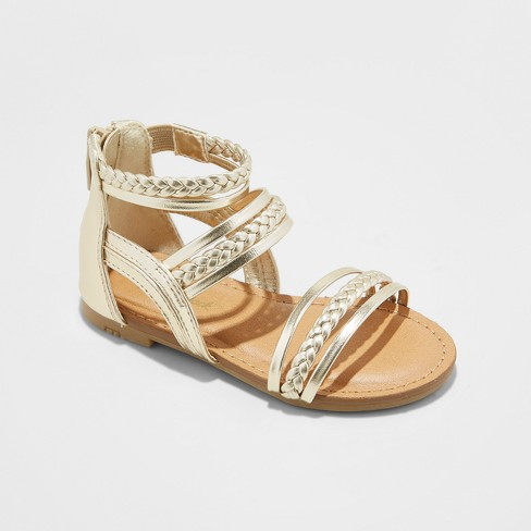 22ed6c692d49 Toddler Girls  Naudia Gladiator Sandals - Cat   Jack™ Gold 5   Target