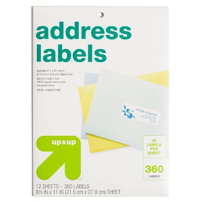 360ct Recycled Address Labels - up & up™