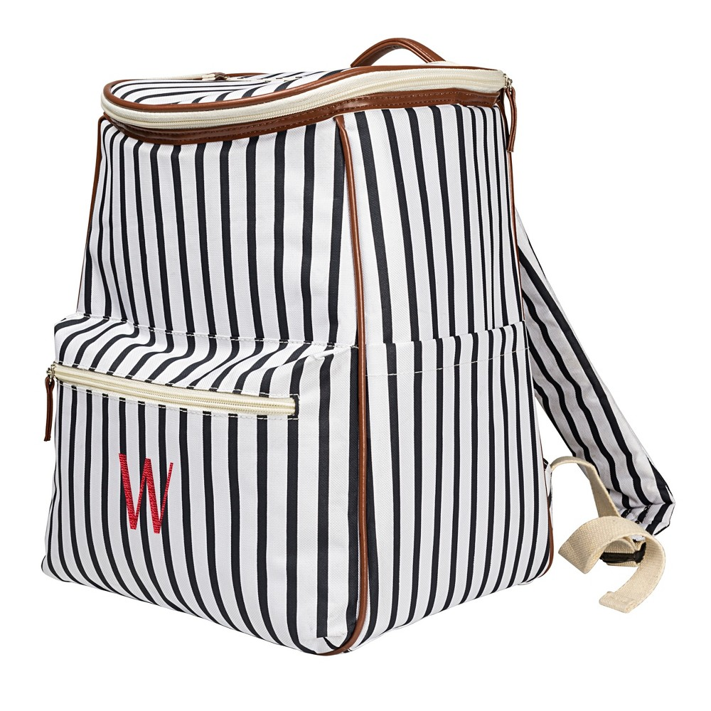 Cathy's Concepts Striped Backpack Cooler - W, Blue Brown White