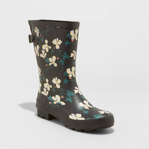 Women's Vicki Rubber Buckle Rain Boots - A New Day™ - image 1 of 3