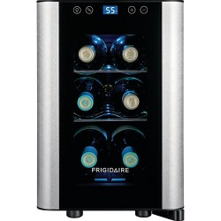 Frigidaire 6 Bottle Stainless Steel Wine Cooler Black - FFWC0622US