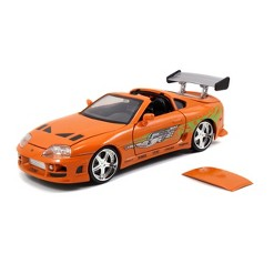 Jada Toys Fast & Furious 1995 Toyota Supra Die-Cast Vehicle 1:24 Scale Metallic Orange