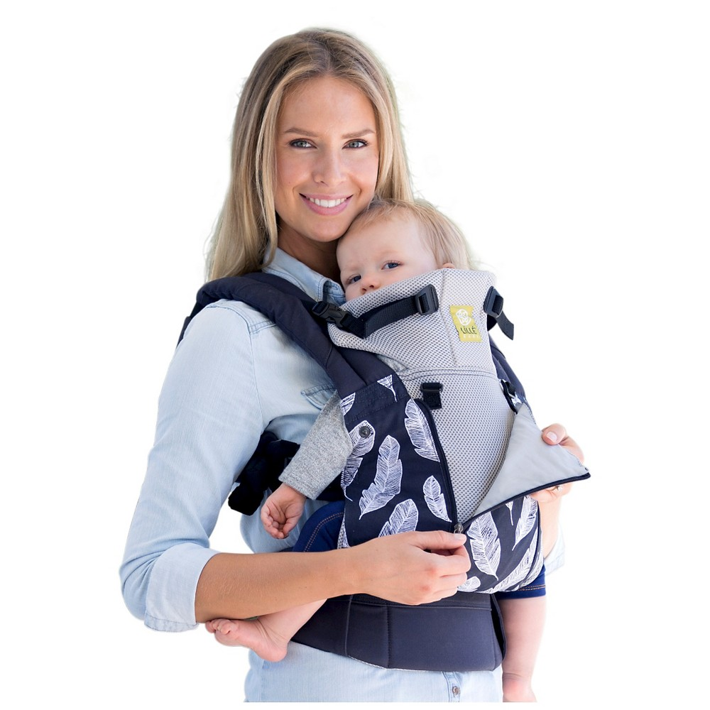 Image of LILLEbaby 6-Position COMPLETE All Seasons Baby & Child Carrier - Charcoal with Feathers, Gray