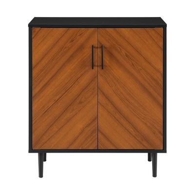 Modern Bookmatch Accent Cabinet - Saracina Home