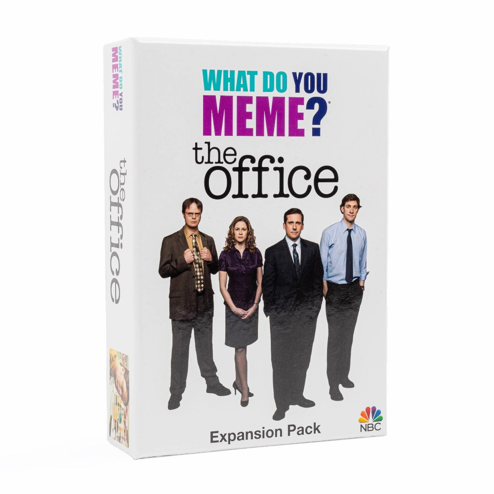 What Do You Meme? The Office Expansion Pack Alert your coworkers and get ready to play What Do You Meme? Dunder-Mifflin-style. Michael, Dwight, Jim and Pam and more faves are here in our The Office expansion pack! Includes 50 brand new caption cards and 30 photo cards to be added to the core game. *Requires What Do You Meme? Core to play. Gender: unisex. Age Group: adult.