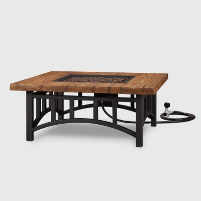 Warren Square Fire Table Black - Real Flame