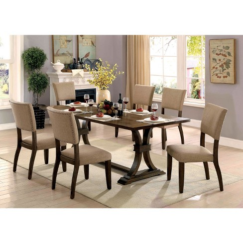 Iohomes Kerney Transitional Wooden Dining Table Rustic Oak Homes Inside Out Target