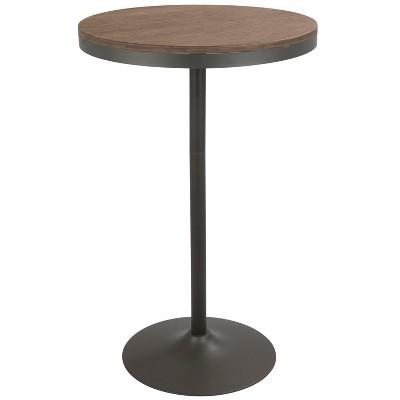 Dakota Industrial Adjustable Bar Dinette Table Gray/Brown - LumiSource