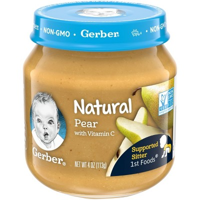 Gerber 1st Food Natural Glass Pear Baby Meals - 4oz