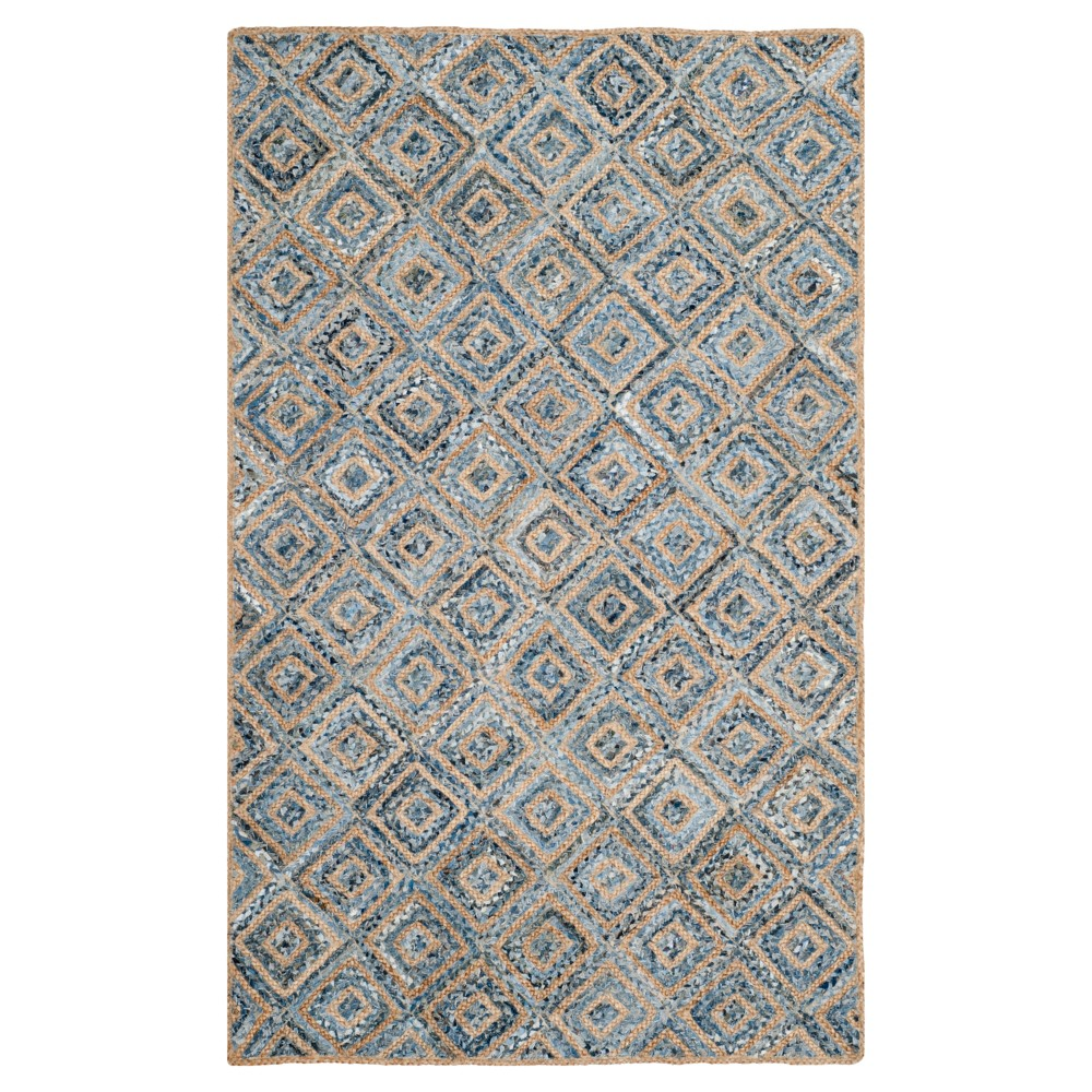 Bailey Accent Rug - Natural/Blue (4'X6') - Safavieh