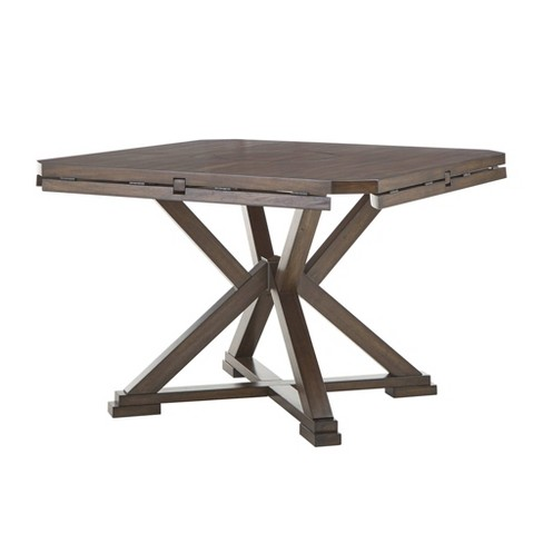 60 Keagan Espresso Convertible Dining Table With Lazy Susan Inspire Q Target