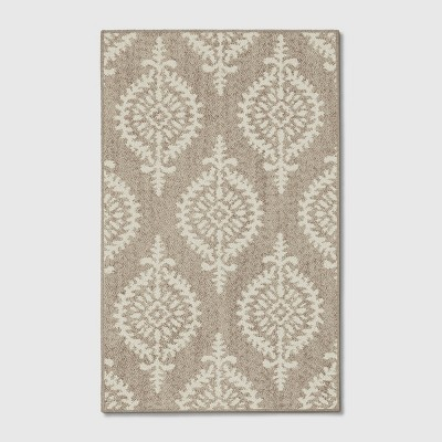 2'6 X4' Paisley Tufted Accent Rugs Gray - Threshold™