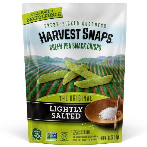 Harvest Snaps Green Pea Snack Crisps Lightly Salted - 3.3oz - image 1 of 3
