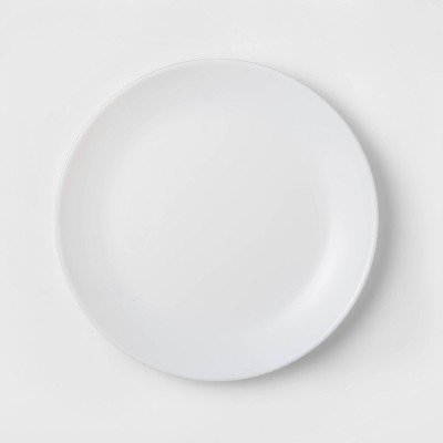 "Glass Salad Plate 7.4"" White - Made By Design™"