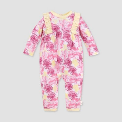 Burt's Bees Baby® Baby Girls' Organic Cotton Vibrant Blooms Jumpsuit - Pink 6-9M