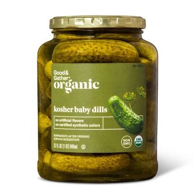 Organic Kosher Baby Dill Pickles - 32 fl oz - Good & Gather™
