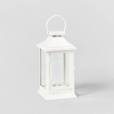 12in Decorative Metal Lantern White - Wondershop™