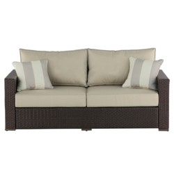 Remarkable Halsted Wicker Patio Sofa With Cushions Threshold Target Inzonedesignstudio Interior Chair Design Inzonedesignstudiocom