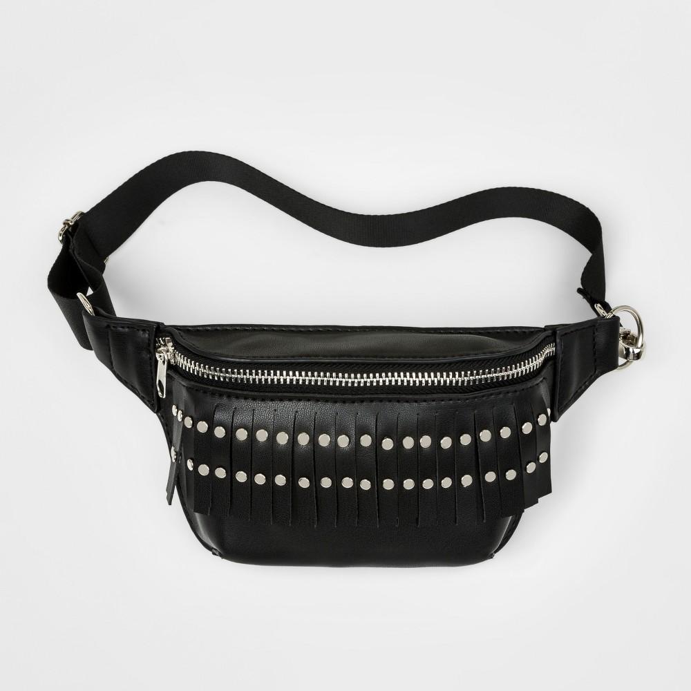 Girls' Fanny Pack Crossbody Bag - art class Black