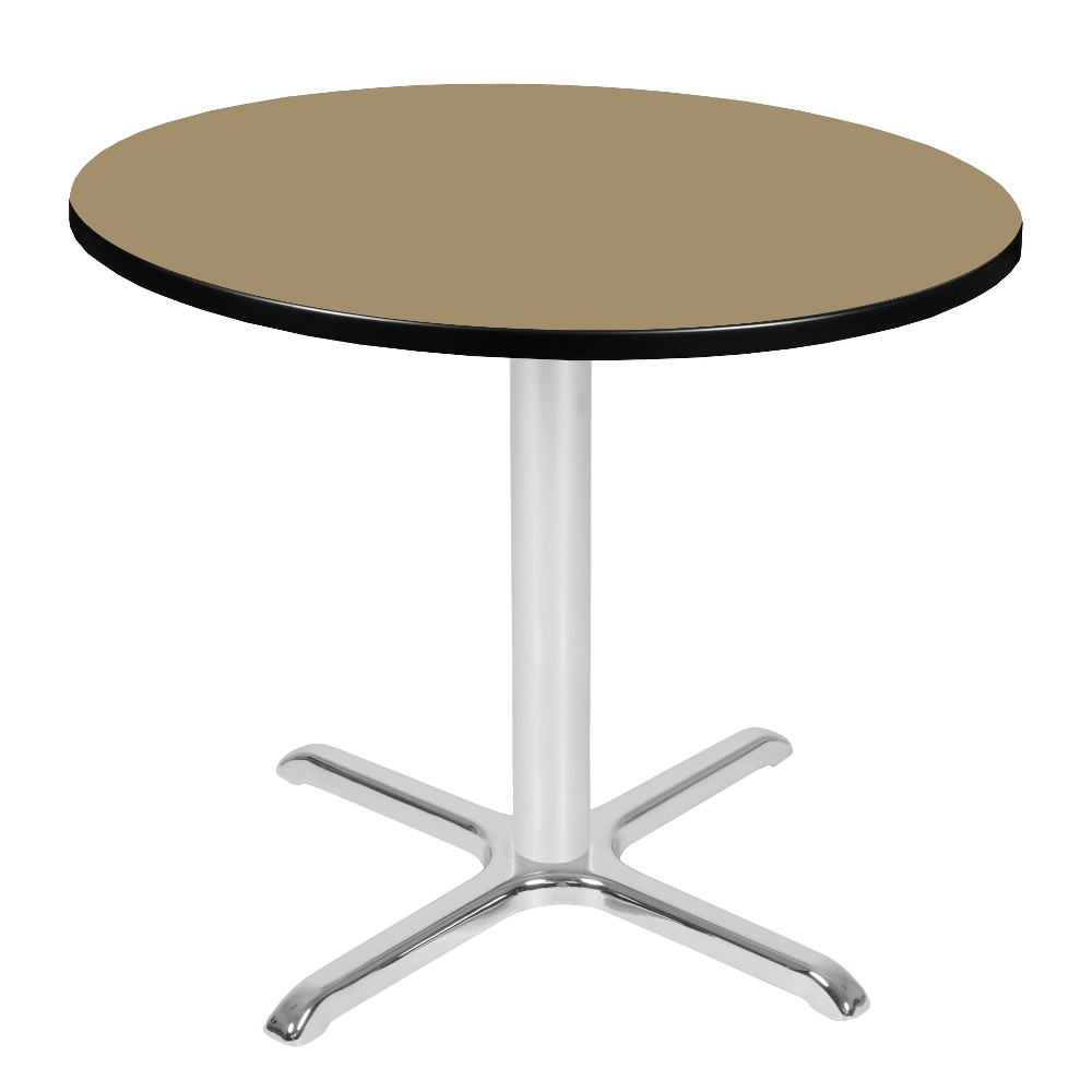 36 Via Round X - Base Table Gold/Chrome (Gold/Grey) - Regency