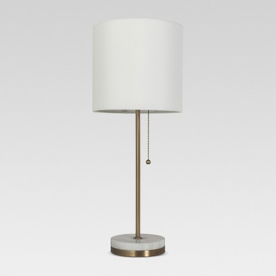 Hayes Marble Base Stick Lamp Brass (Includes LED Light Bulb)- Project 62™