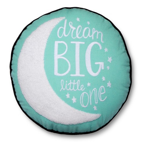 "Dream Big Moon Throw Pillow 14"" Round Mint - Pillowfort™ - image 1 of 3"