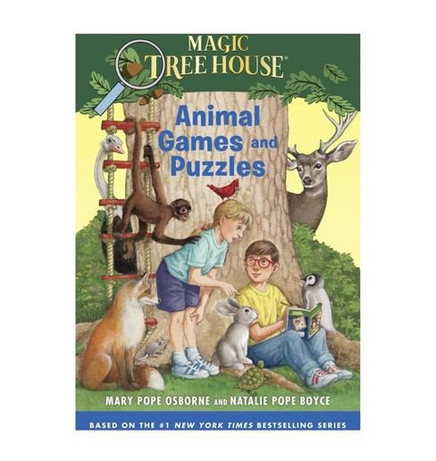 Animal Games and Puzzles ( Magic Tree House: Stepping Stone Book) (Paperback) by Mary Pope Osborne - image 1 of 1
