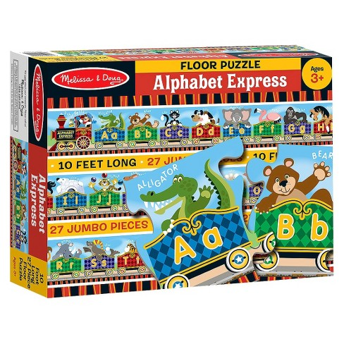 Melissa Doug Alphabet Express Jumbo Jigsaw Floor Puzzle 27pc 10 Feet Long